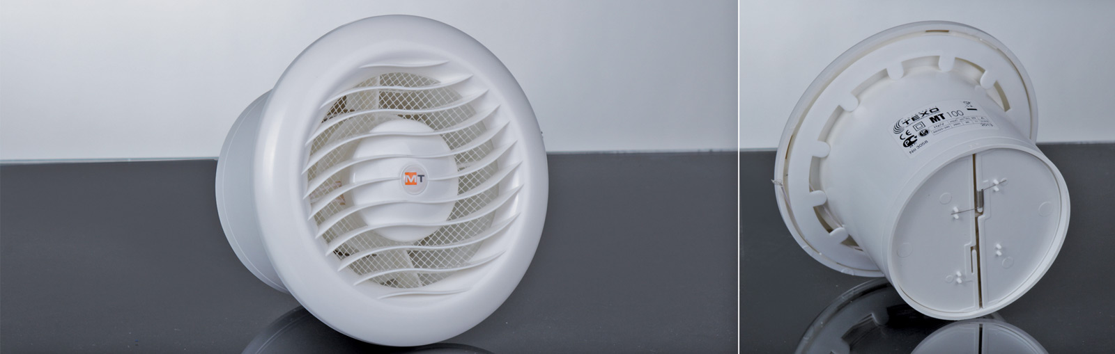 Fan MT 100 round with back draught shutter